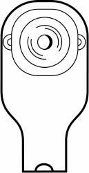 mck-86174900-1 piece ostomy drain pouch open transparent beige extended wear barr